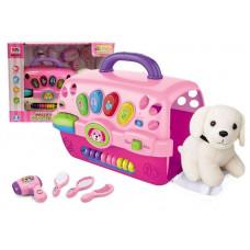 Salón krásy pre psa s nosičom Inlea4Fun MUSIC PET HOUSE - ružové Preview