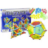 Magnetická stavebnica 110 ks Inlea4Fun MAGNETIC WORLD