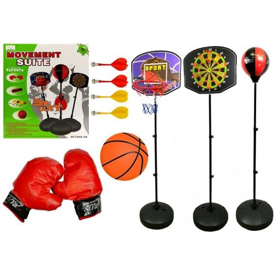 Inlea4Fun MOVEMENT SUITE Sada športových hier 3 v 1