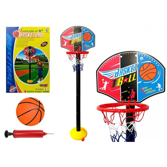 Basketbalový kôš s doskou Inlea4Fun SUPER SPORT SET BASKETBALL