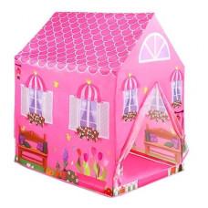 Inlea4Fun Detský stan Rozkladací ružový domček Preview