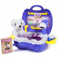 Inlea4Fun DREAM Salón krásy pre psa s kufríkom - modré