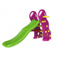 InGarden detská záhradná šmykľavka + basketbalový kôš 2v1 - fialova