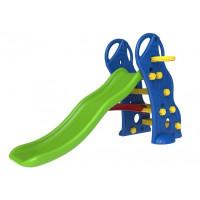 InGarden detská záhradná šmykľavka + basketbalový kôš 2v1 - modrá