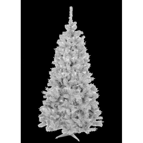 Inlea4Fun biely vianočný stromček ELIZA - 180 cm - biela