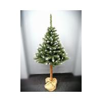 Inlea4Fun Zasnežený vianočný stromček KONRAD  220 cm s kmeňom