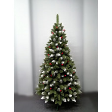 Inlea4Fun zasnežený vianočný stromček IZA 220 cm s červenými bobuľami + stojan Preview