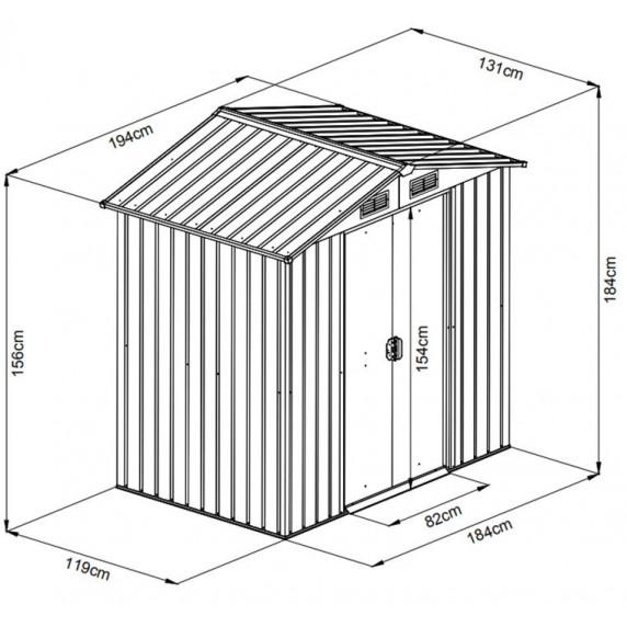 Záhradný domček MAXTORE 65 - Hnedý