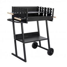 Záhradný obdĺžnikový gril na drevené uhlie MIR6045 - čierny Preview