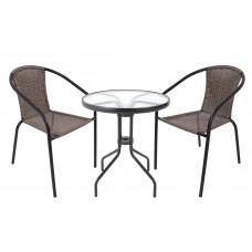 Záhradná zostava stôl + 2 stoličky InGarden HERKULES II - sivá Preview