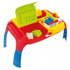 MOCHTOYS Set farebných kociek s prenosným stolom 11019 Preview
