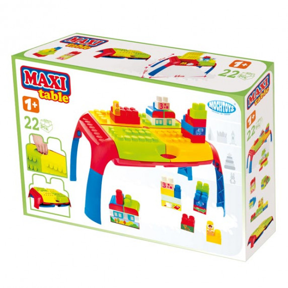 Set farebných kociek s prenosným stolom MOCHTOYS 11019