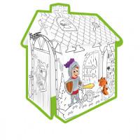 MOCHTOYS Coloring House 11123 Papierový domček - omaľovánky Rytieri