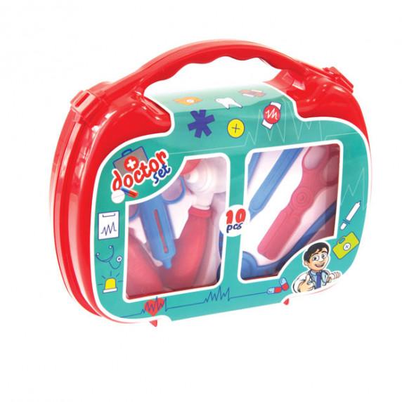 MOCHTOYS Doctor Lekársky set v kufríku - červený