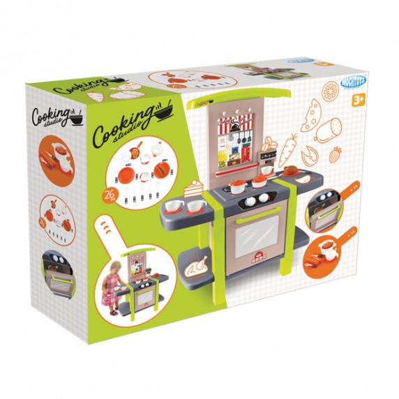 Detská kuchynka s 26 doplnkami MOCHTOYS Cooking Studio 11854