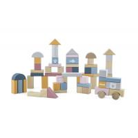Drevené farebné tvary 60 kusov VIGA  PolarB - pastelové