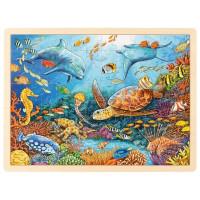 Drevená puzzle Goki - morský svet