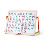 Stolová magnetická tabuľa s písmenkami a číslami Woodyland