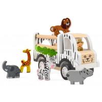 Drevené vozidlo na prepravu zvierat MAGNI ZOO Car - Safari