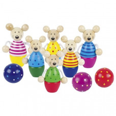 Drevený detský bowling GOKI - myšky