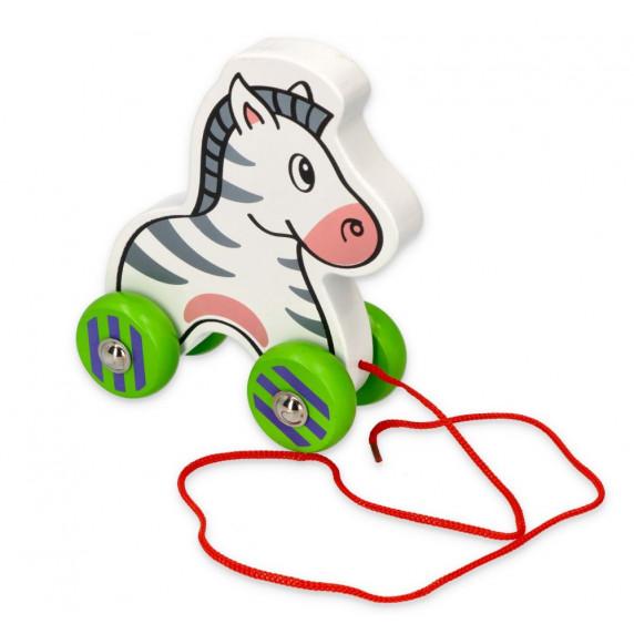 Drevená ťahacia zebra VIGA