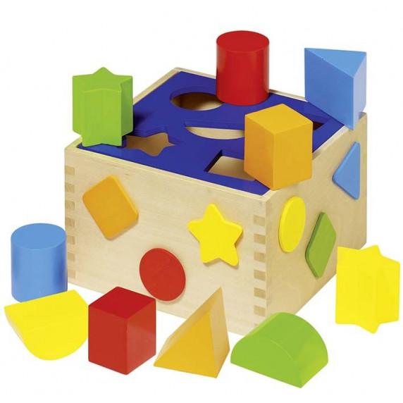 Drevená vkladačka farebná Goki SORT BOX