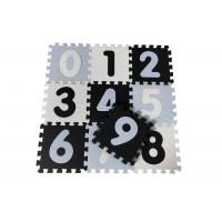 Penová podložka puzzle MAGNI - čierna, biela, modrá