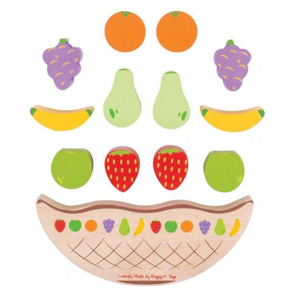Drevená balančná hra Ovocie BIGJIGS Balance game fruit