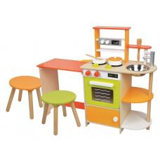 Detská drevená kuchynka a jedálenský kút LELIN Preview