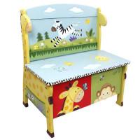 Detská lavica s úložným priestorom FANTASY FIELDS Sunny Safari