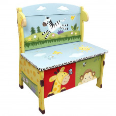 Detská lavica s úložným priestorom FANTASY FIELDS Sunny Safari Preview