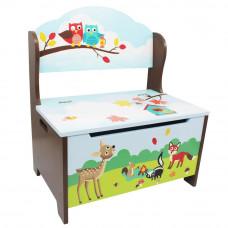 Detská lavica s úložným priestorom FANTASY FIELDS Enchanted Woodlands Preview