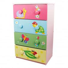 Detská komoda so 4 zásuvkami FANTASY FIELDS Magic Garden Preview