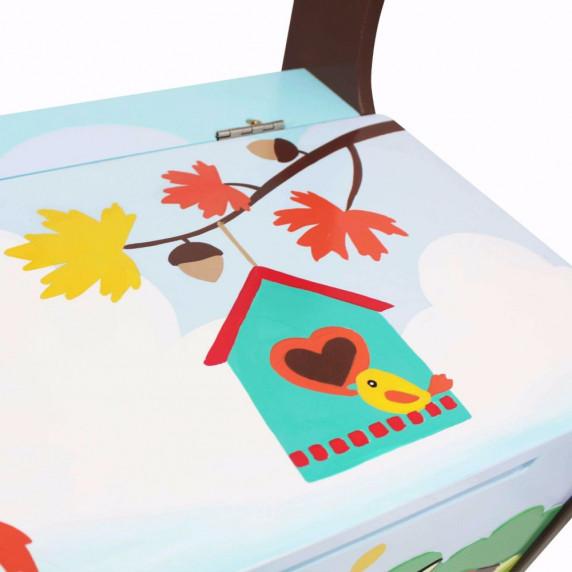 Detská lavica s úložným priestorom FANTASY FIELDS Enchanted Woodlands