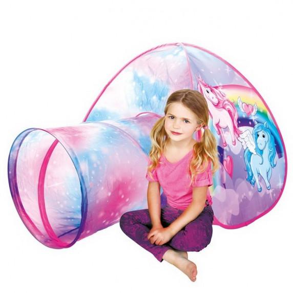 Detský hrací stan s tunelom Jednorožec BINO Tent with Tunnel Unicorn