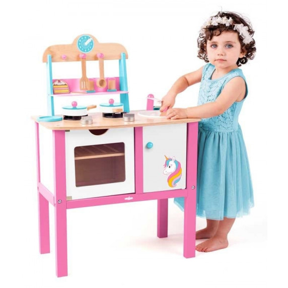 Detská drevená kuchynka Woodyland KITCHEN UNICORN