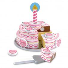 Detská drevená krájacia torta MELISSA & DOUG Triple Layer Party Cake Preview