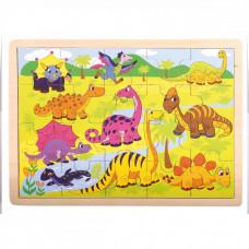 Drevené puzzle Bino - dinosaurus Preview