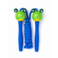Švihadlo s drevenou rúčkou Woodyland Skipping Rope FROG - modré