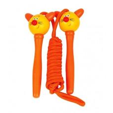 Švihadlo s drevenou rúčkou Woodyland Skipping Rope CAT - oranžové Preview