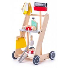 Detský drevený upratovací vozík Woodyland Preview