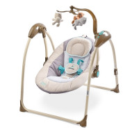 Detská hojdačka CARETERO Loop elektronická béžová