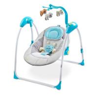 Detská hojdačka CARETERO Loop elektronická modrá