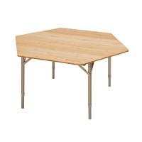 Kempingový skladací stôl KING CAMP Bamboo Color 100 x 100 x 60 cm