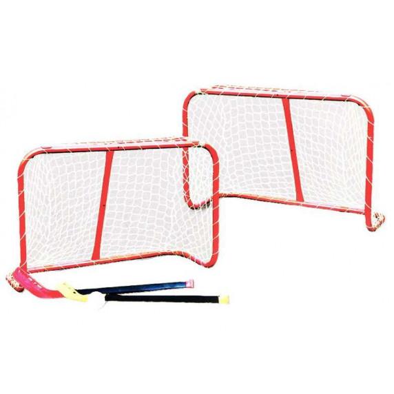 Brankový set MASTER 81 x 54 x 31 cm s hokejkami