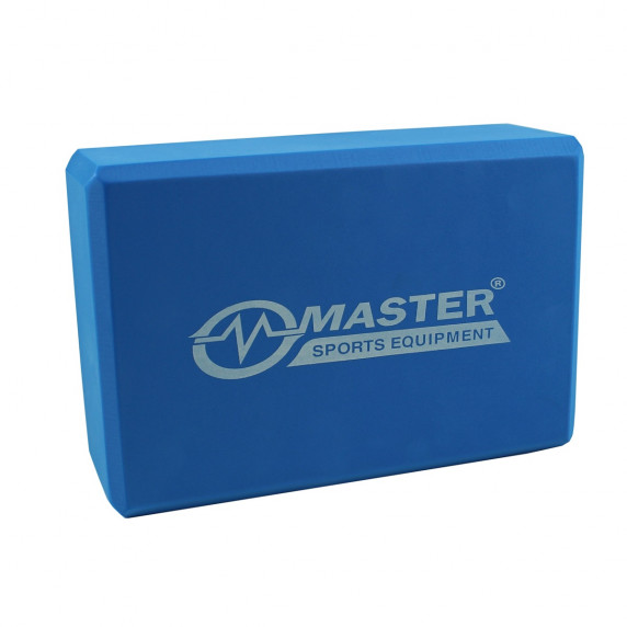Jóga kocka MASTER 23 x 15 x 7,5 cm - modrá