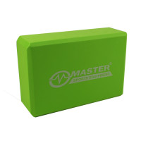 Jóga kocka MASTER 23 x 15 x 7,5 cm - zelená