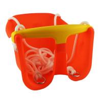 Hojdačka plastová baby CHEVA Baby plast - oranžová