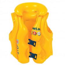 Nafukovacia záchranná vesta pre deti JILONG 46X42 cm - žltá Preview