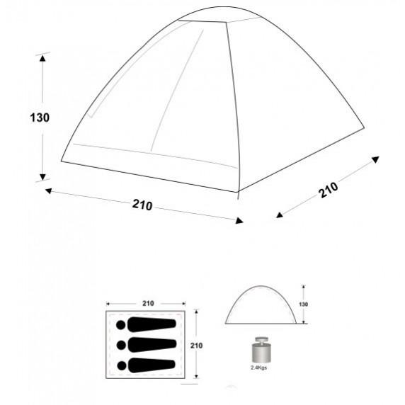 Stan Monodome II 180 x 210 x 120 cm SPARTAN